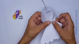 white dove، How to make paper doves ، طائر ابيض، حمامة بيضاء