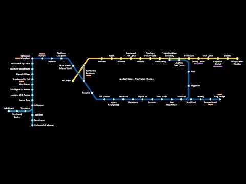 SkyTrain Map / Expo, Millennium, And Canada Line Announcements