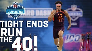 Tight Ends Run the 40-Yard Dash | 2019 NFL Scouting Combine Highlights
