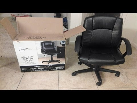 Unboxing and Assembling Mainstays Mid-Black Office Chair