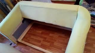 Перетяжка дивана своими руками(, 2017-09-12T19:34:19.000Z)