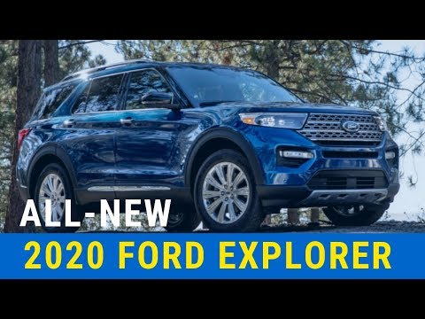 2020 Ford Explorer revealed New SUV from the rear drive platform up