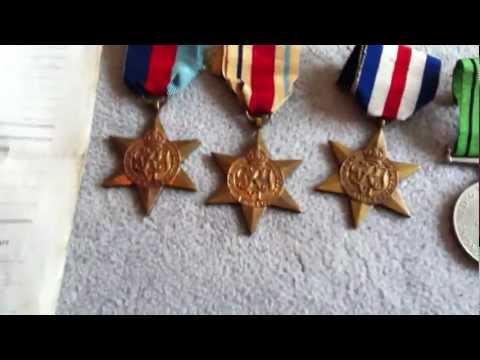 British World War 2 Medals with Paperwork