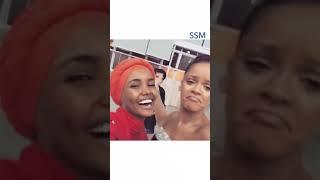 Rihanna & Halima Aden (Somali Model) met the first time! Like&share