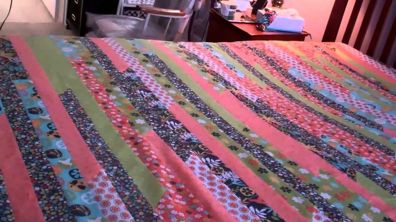 Queen King Jelly Roll Quilt Part 5 Finishing the top - YouTube : jelly roll quilt patterns youtube - Adamdwight.com