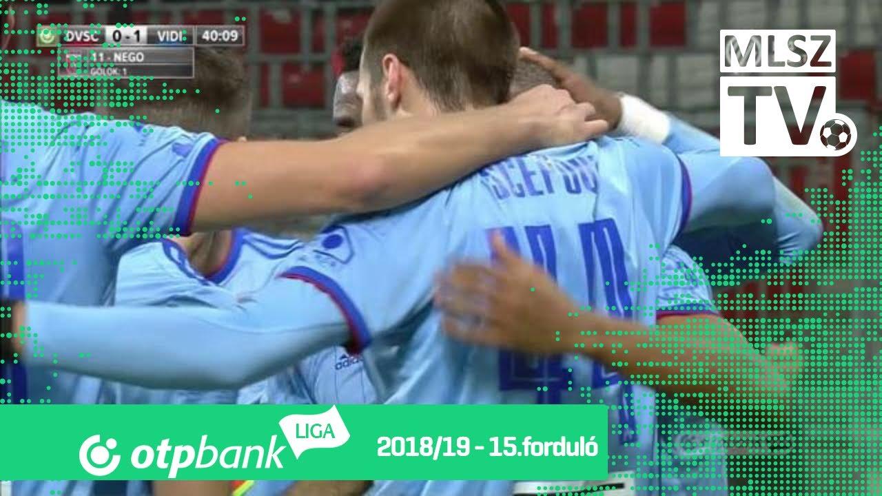 Nego Loic gólja a DVSC - Mol Vidi FC mérkőzésen