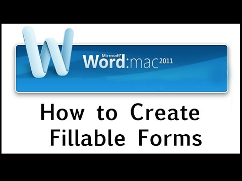 How to Create Fillable Forms on Word 2011 for MAC YouTube – How to Create a Form Template in Word