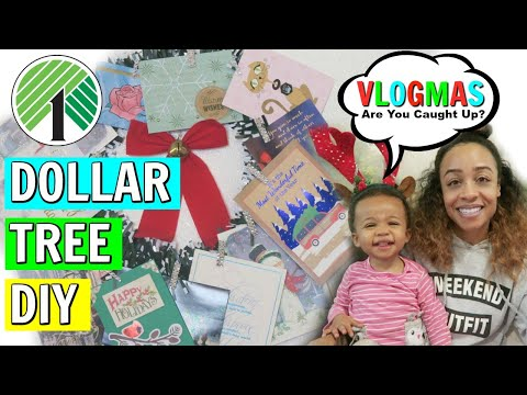 DOLLAR TREE DIY HOLIDAY CARD DISPLAY! OPENING MAIL + MORE! VLOGMAS