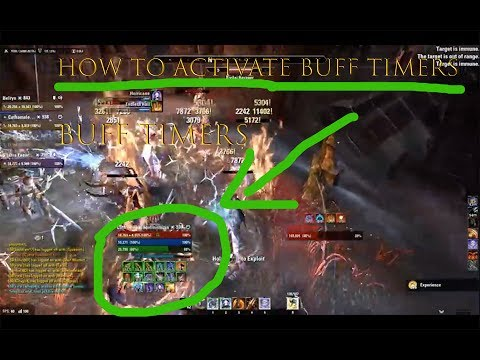 ESO HOW TO ACTIVATE BUFF TIMERS ON CONSOLE *MORROWIND UPDATE NEW*