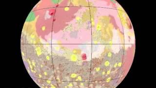 Rotating Globe of Mars Geology