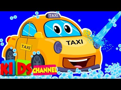 Taxi Car wash videos for kids | car wash song by Kids Channel | Kid Learning Videos For Boys