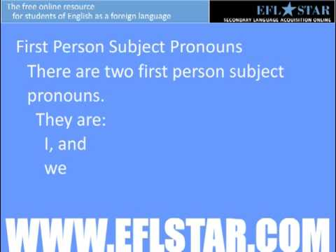 Learn English - First, Second, and Third Person