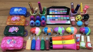Mixing Makeup and Clay into Store Bought Slime !!! Relaxing Satisfying Slime Videos #155
