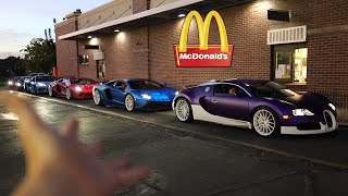 homepage tile video photo for Taking my Supercar Collection to McDonalds