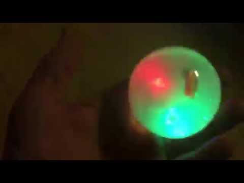 Flashing bouncy ball