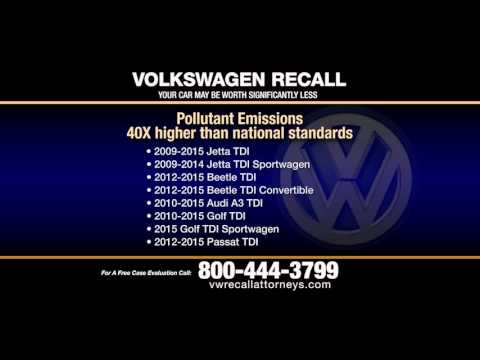 Volkswagen Recall Attorneys - File Your Claim Now! 800-444-3799