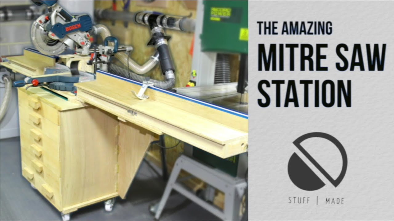 Amazing Diy Mobile Mitre Saw Stand With Dust Extraction