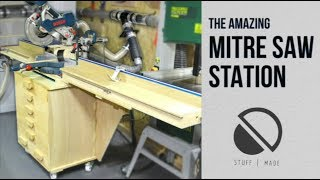 Amazing DIY Mobile Mitre Saw stand (with dust extraction)