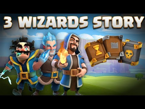 3 Wizards Story - Electro Wiz, Ice Wizard, Regular Wiz & Grand Warden Origin | Clash of Clans Story