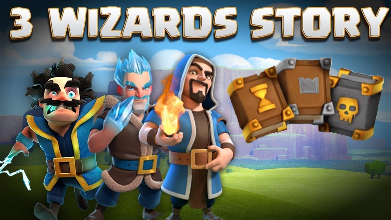 3 Wizards Story Electro Wiz Ice Wizard Regular Wiz Grand Warden Origin Clash Of Clans Story