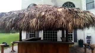 10x10 Tiki Bar Rehab In Royersford Pa. Video 1, Tiki Bar , Tiki Hut