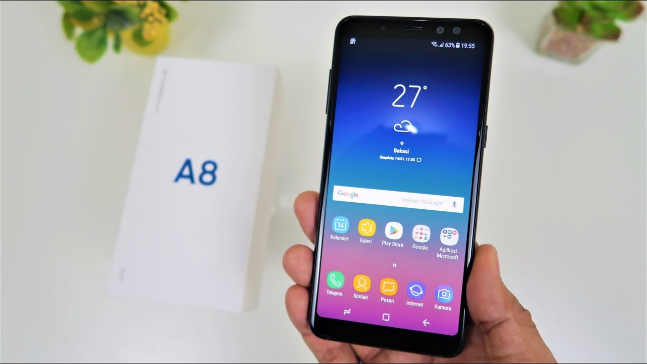 Unboxing Samsung Galaxy A8 2018 Indonesia Youtube