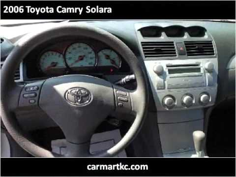 2006 toyota camry solara used cars kansas city mo youtube. Black Bedroom Furniture Sets. Home Design Ideas