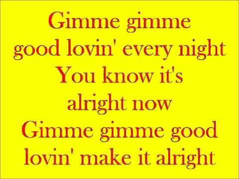 Gimme Gimme Good Lovin'   Karaoke - In the style of Crazy Elephant