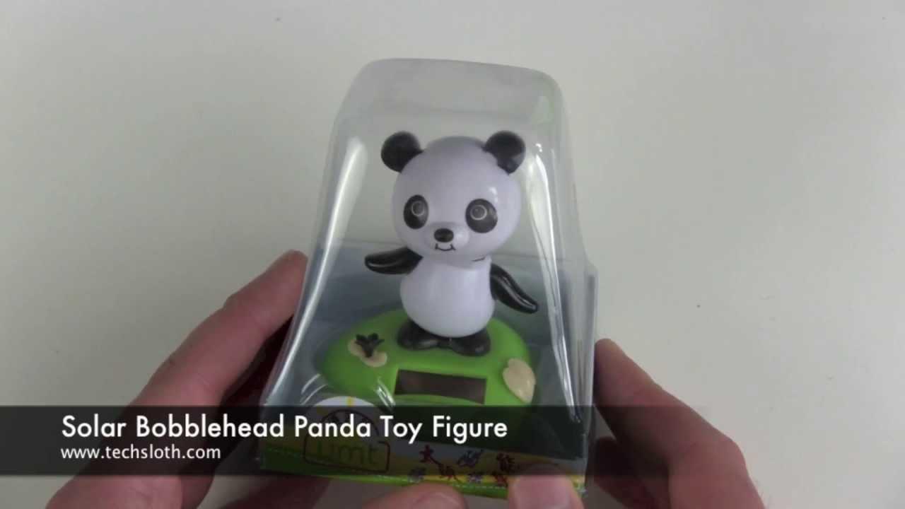 Solar Bobblehead Panda Toy Figure - YouTube