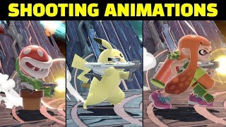 All Shooting Animations in Super Smash Bros Ultimate
