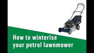 How to winterise your petrol lawnmower