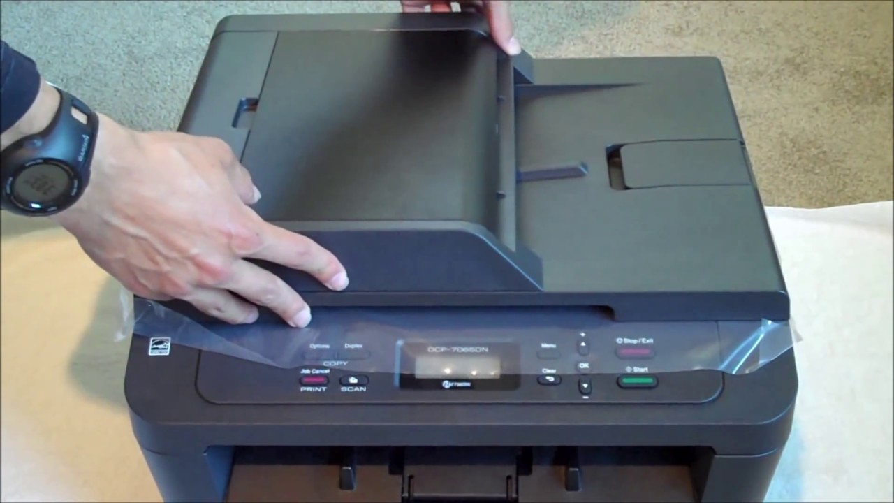 Brother Dcp 7065dn Post Unboxing Overview Youtube