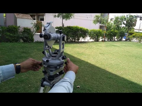 Part-4 Vertical Angle Measurement By Theodolite In Hindi