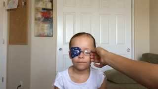 Using a Patch to help improve lazy eye vision for Olivia (6 years)