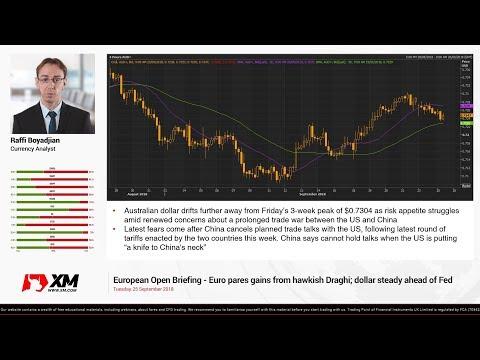 Forex News: 25/09/2018 - Euro pares gains from hawkish Draghi; dollar steady ahead of Fed