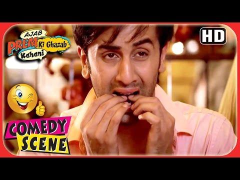 Ajab Prem Ki Ghazab Kahani  Ranbir First Encounter With NonVeg  Ranbir Katrina Comedy Scene
