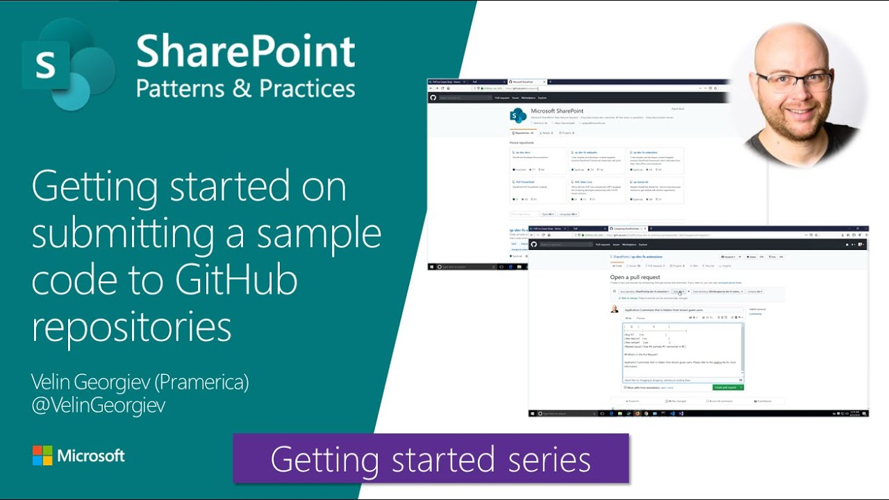 Getting started on submitting a sample code to SharePoint GitHub  repositories