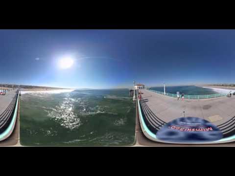 Hot Summer Day in Manhattan Beach, California in 360 and 4K