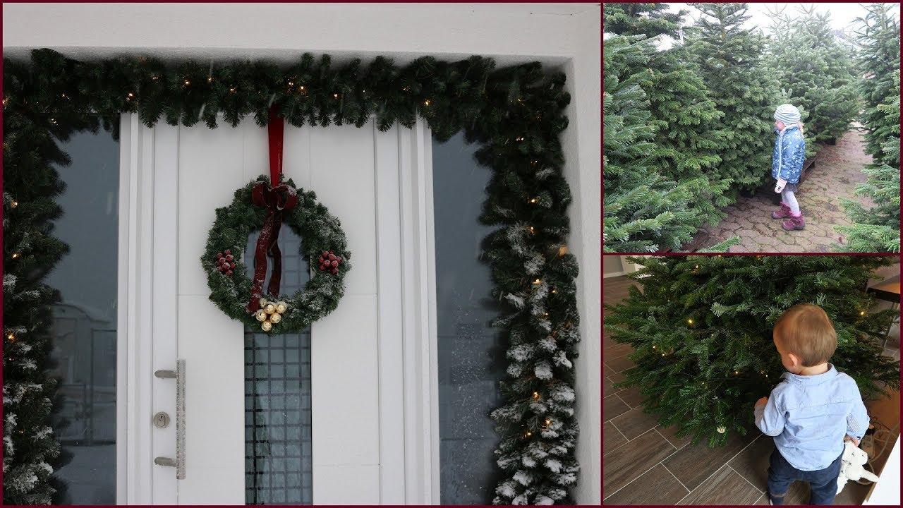 haus deko zu weihnachten tannenbaum kauf mit kindern gabelschereblog youtube. Black Bedroom Furniture Sets. Home Design Ideas