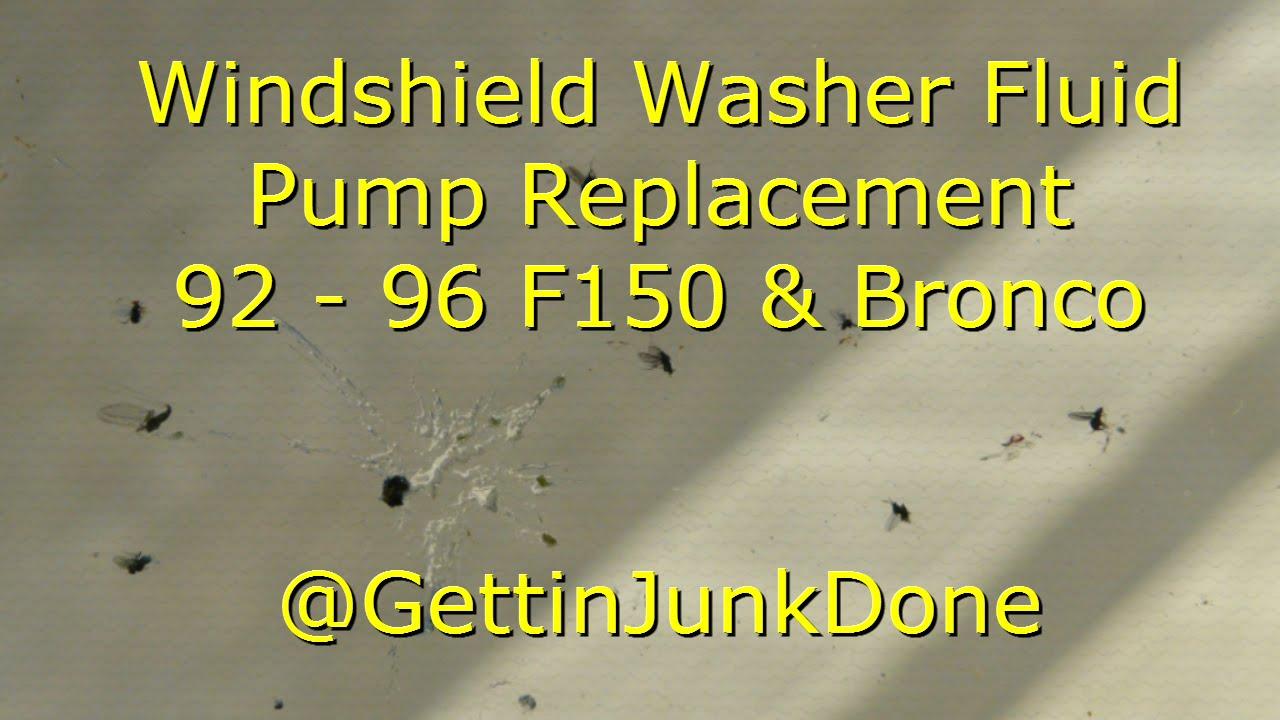 hight resolution of replacing windshield washer fluid pump 92 96 f150 bronco gettinjunkdone youtube