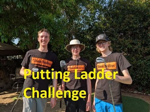 Golf YouTuber Putting Ladder Challenge - Challenged By The Hairy Golfer
