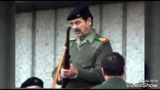 صدام حسين  أجمل الصور مع شيلة دندن الهاجس