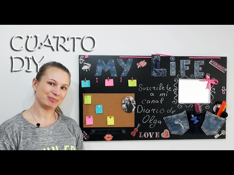 How to decorate my room Desktop organizer for your tools and notes - OLGA DIARY