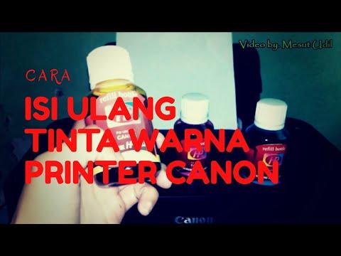 Untuk mengisi Tinta warna Pada Cartridge Printer Canon Seri 280 yang sudah habis, dapat dilakukan de.