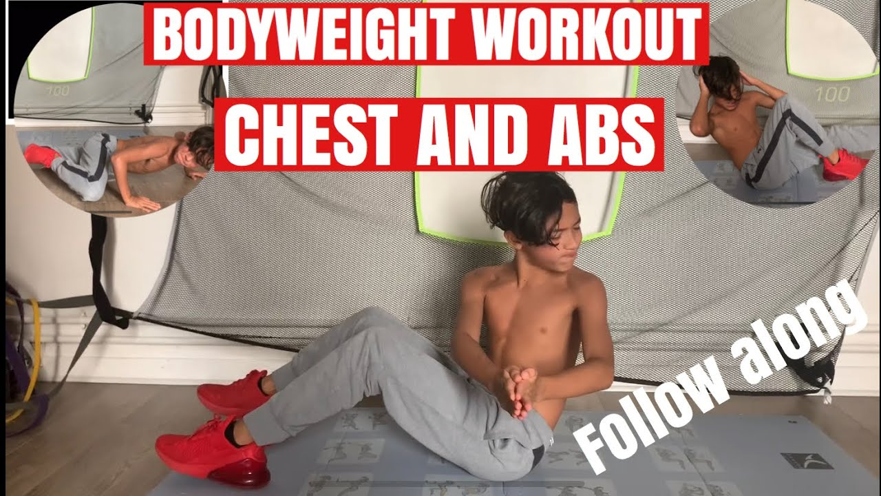 CHEST ABS BODYWEIGHT WORKOUT