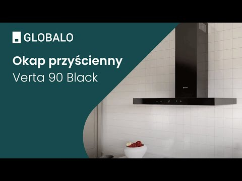 Okap przyścienny GLOBALO Verta 90.1 Black | Ciche i wydajne okapy GLOBALO