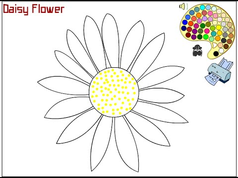 Daisy Coloring Pages For Kids Daisy Coloring Pages YouTube