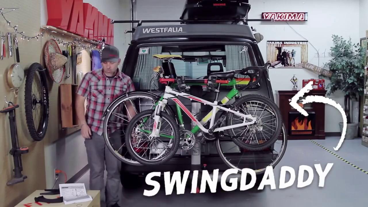 Yakima Swingdaddy 4 Bike Swing Away Hitch Rack Demonstration Youtube