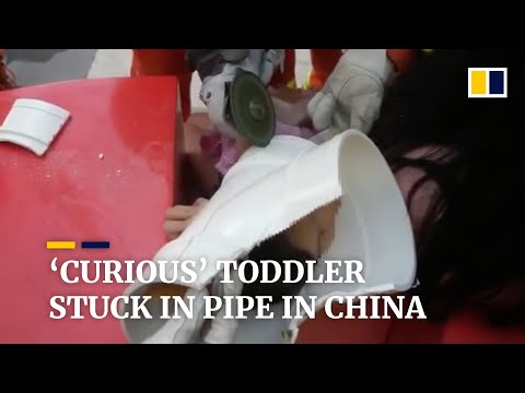Toddler Gets Stuck In Pipe 'out Of Curiosity' In China