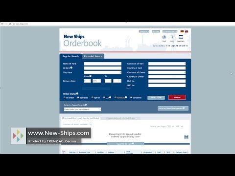 New Ships Orderbook - Database - www.New-Ships.com